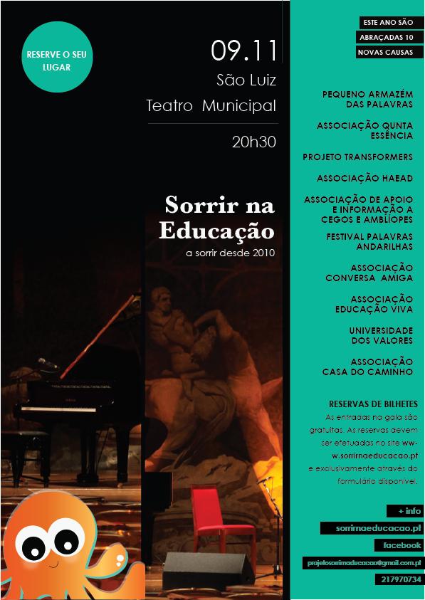 """São Luiz acolhe a 6ª gala """"Sorrir na Educação"""""""