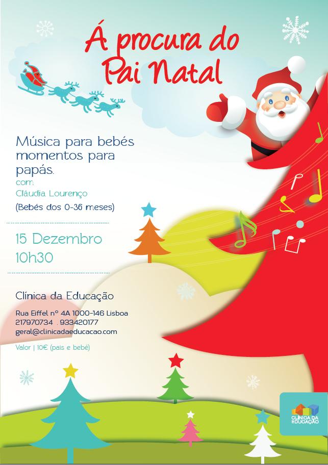 Vamos procurar o Pai Natal? Música para bebés dia 15 Dezembro