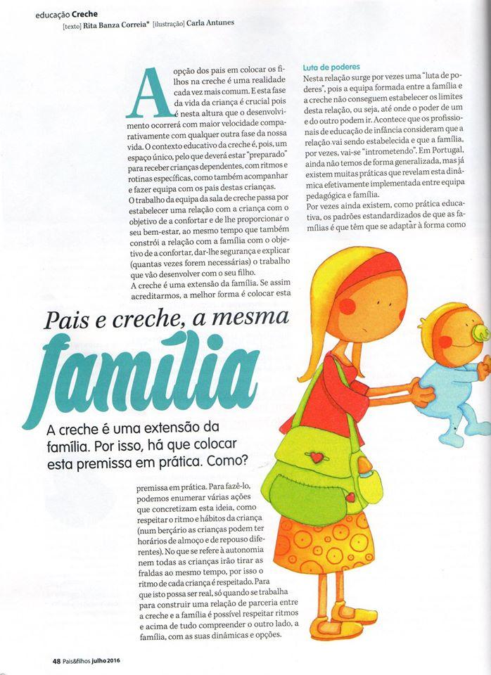 Pais e creche, a mesma família