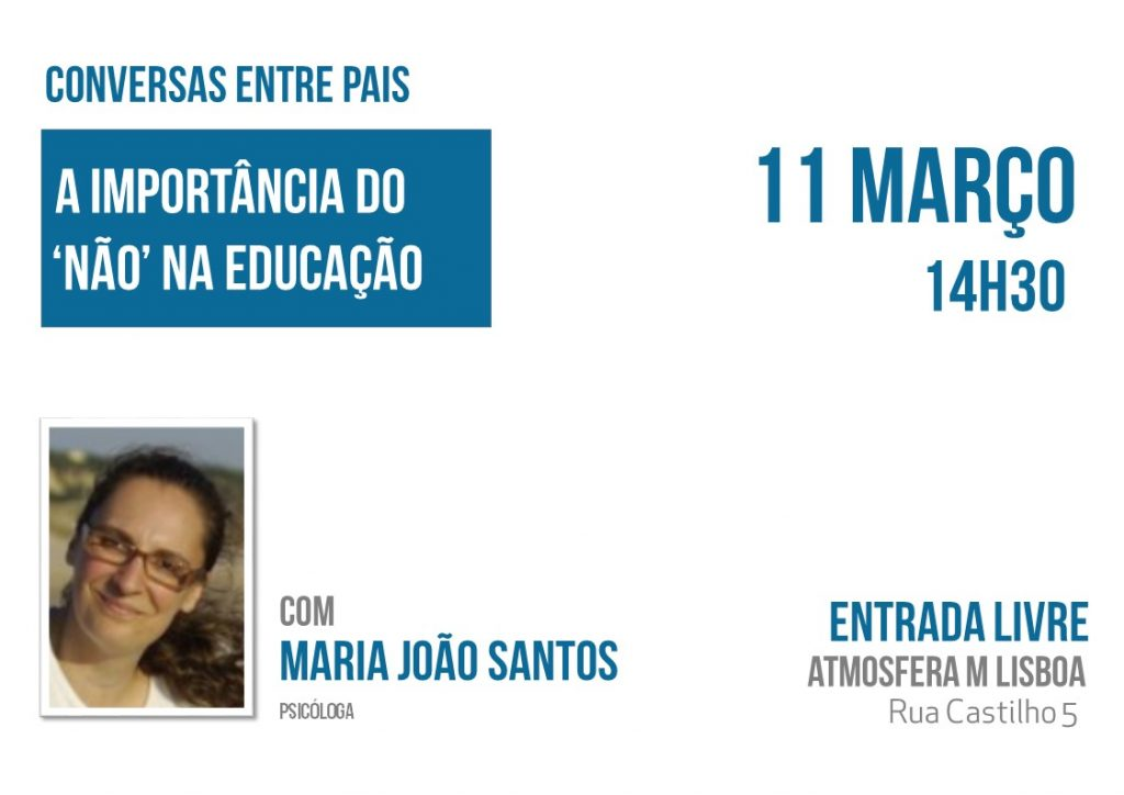 """""""A importância do Não na Educação"""" entrada gratuita"""