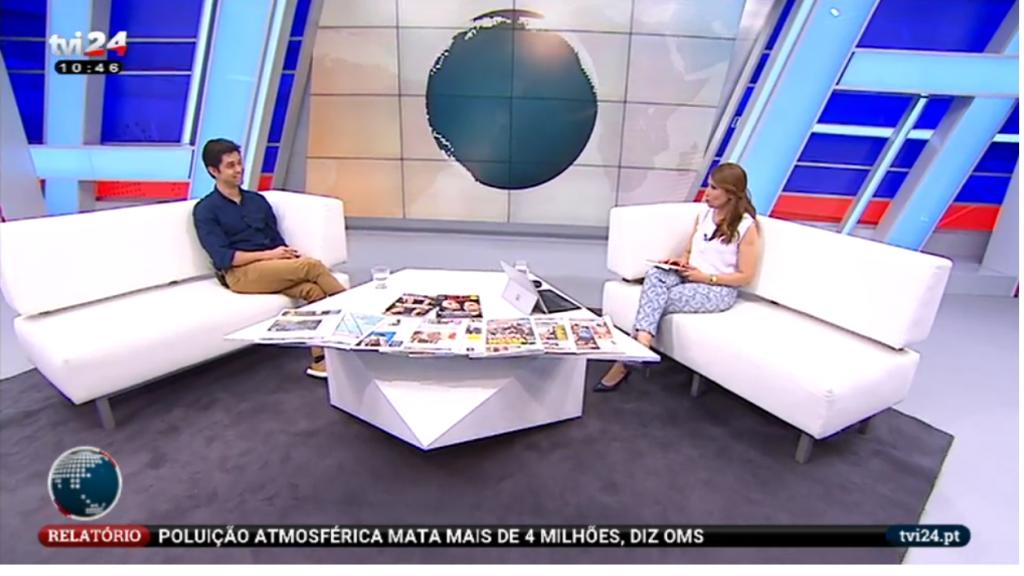 Renato Paiva no telejornal da TVI 24