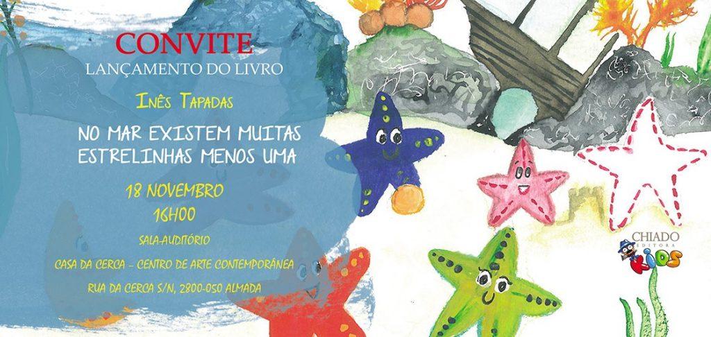 Convite para lançamento de livro infantil da Drª Inês Tapadas