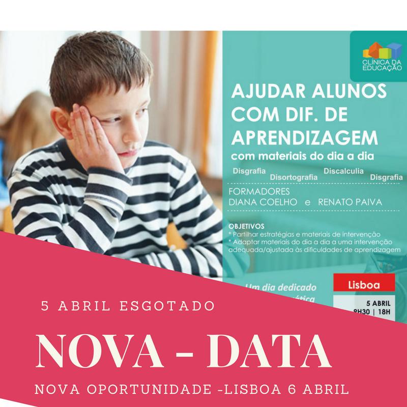 Nova data formação em Lisboa