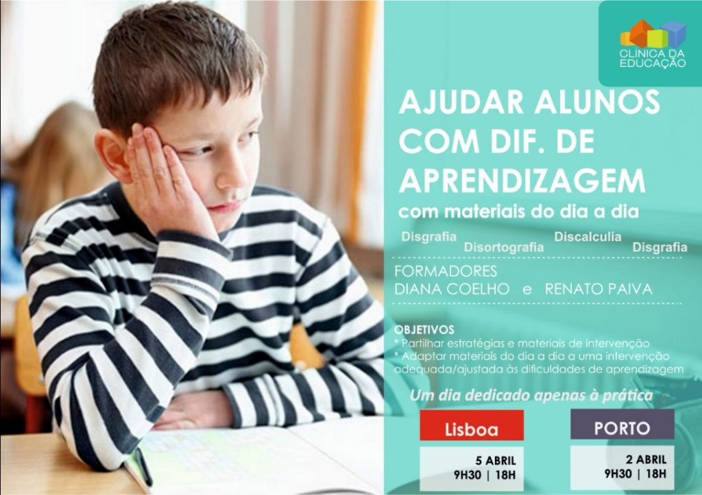 FORMAÇÃO: Ajudar alunos com Dificuldades de Aprendizagem