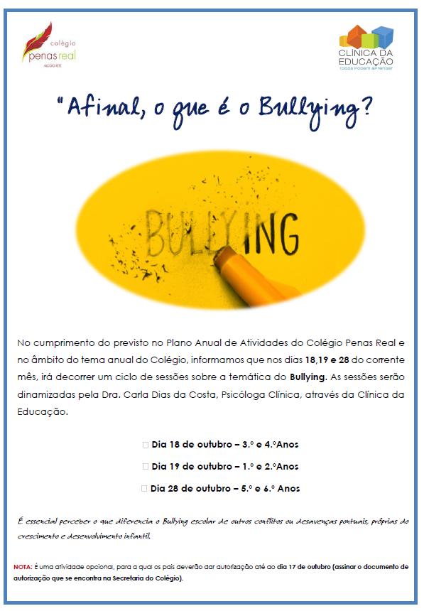 Prevenir o Bullying no Colégio Penas Real